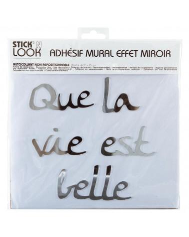 Sticker Miroir Citation 25x25