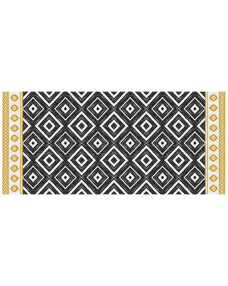 tapis vinyle ethnique 50x109. Black Bedroom Furniture Sets. Home Design Ideas