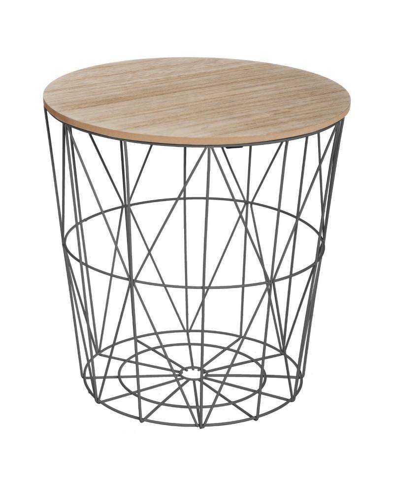 table de cafe noire metal kumi. Black Bedroom Furniture Sets. Home Design Ideas